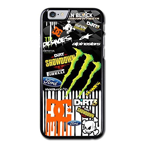 Coque,Ken Block Dc Shoes Monster Rally Team Coque iphone 6 Case, Coque iphone 6S Case, Hard Case Cover Skin For Coque iphone 6 4.7 pouce,Cas De Téléphone