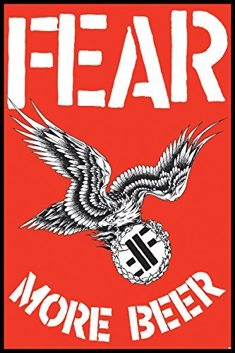 Fear More Beer Punk Rock Music Poster Print 24 By 36