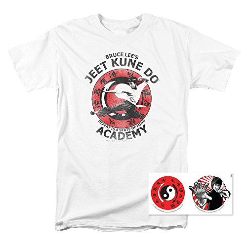 Bruce Lee Jeet Kune Do Academy T Shirt & Stickers (Large)