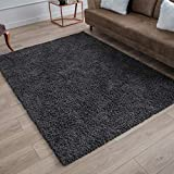 Perla Furniture Gray Shag Grey Shaggy Area Rugs 5X7,