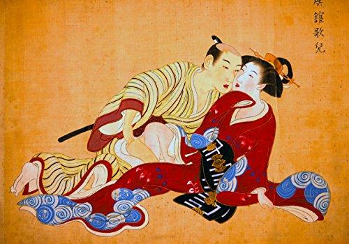 Shunga PRINTS Shunga POSTER A3 Painting Japanese erotic art Oriental Wall Decor decal