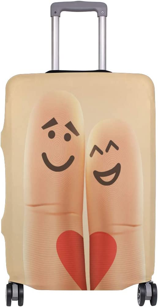 ANINILY Finger Couple Travel DIY Luggage Cover Suitcase Protector Baggage Fits S18-20 in