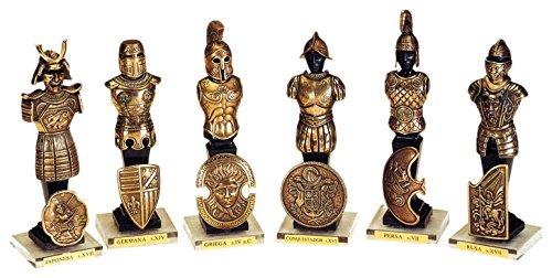 MARTO Bronze Conquistador Statue Warriors in History (50093)