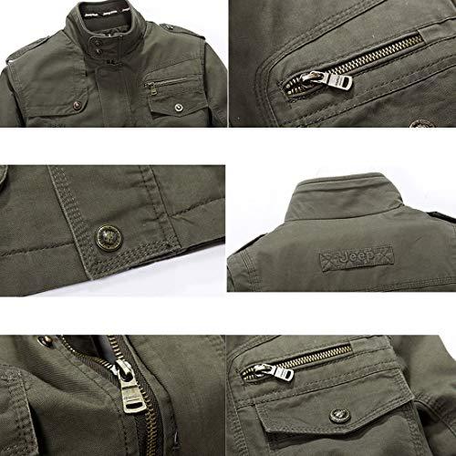 Homme Automne Militaire Mi Veste Manteau Blouson En Saison Blousons Coton Casual Classe Jacket Noir gg5pq8Br