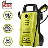 AllExtreme AE-3112 Portable Electric Car Washer Sprayer Cleaner Machine with Detergent Tank, Spray Wand Gun and Multiple Nozzles (1200W, 1450PSI)
