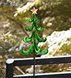 Outdoor Christmas Tree Garden Wind Spinner - 18.75 dia. x 86.5 H