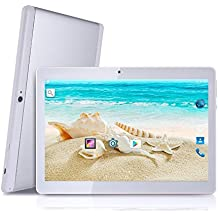 Android Tablet with Dual Sim Card Slots - YELLYOUTH 10 inch Octa Core 4GB RAM 64GB ROM Tablet PC 3G GSM Phone Call GPS WiFi Bluetooth YY-107S - Silver