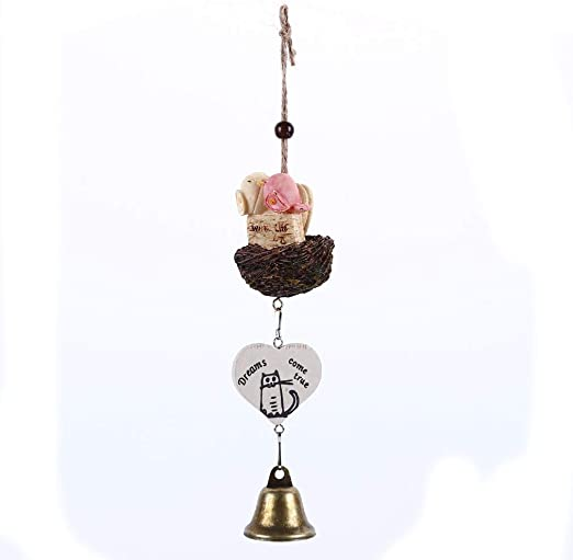 Birds and bells Wind Chime Hanging Mobile Metal Decor Home Garden Ornament