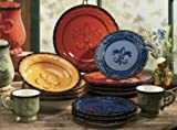 Tuscany Colorful Hand Painted Fleur De Lis, 16pc Dinneware Set, 82016 by ACK