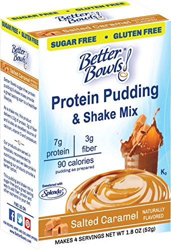 Pudding Caramel - Better Bowls Sugar-Free Instant Pudding, Salted Caramel (1.8 ounce, pack of 6 )