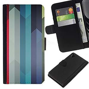 All Phone Most Case / Oferta Especial Cáscara Funda de cuero Monedero Cubierta de proteccion Caso / Wallet Case for Sony Xperia Z2 D6502 // Colorful Swords Lines