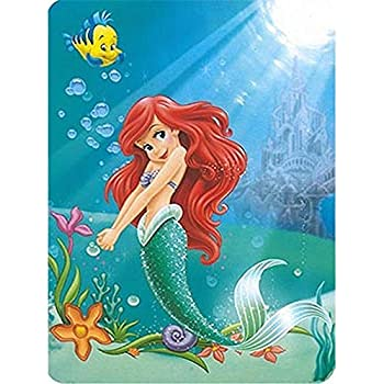 b5c0499ad35e90 Disney Princess Ariel Life Under the Sea the Little Mermaid 60x80 Twin Mink  Style Blanket