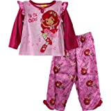 "Strawberry Shortcake ""Tu-Tu Cute!"" Young Girls Pink Pajama Set Size 4-6X (5)"