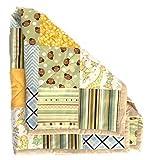 Handmade Baby Quilt Nursery Blanket Rustic Crib Bedding