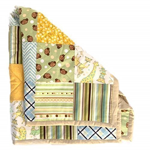 Handmade Baby Quilt Nursery Blanket Rustic Crib Bedding by The Best Seamstress