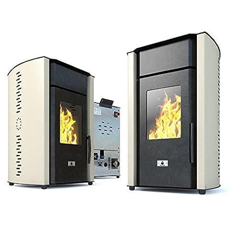 Estufa caldera de pellets Eco Spar Hydro Modelo Alba Salida ...