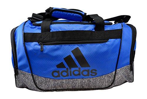 adidas Defender III Duffel Bag (Small, Hi-Res Blue/Black/Onix Jersey)