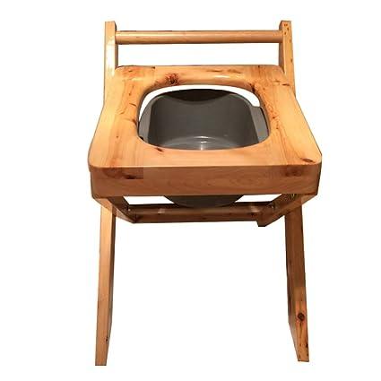 zenggp Sedile WC Accovacciato con Panca Sgabello Panca Pieghevole in ...