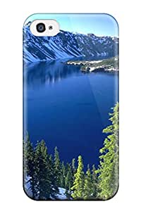 Unique Design Iphone 4/4s Durable Tpu Case Cover Crater Lake Oregon