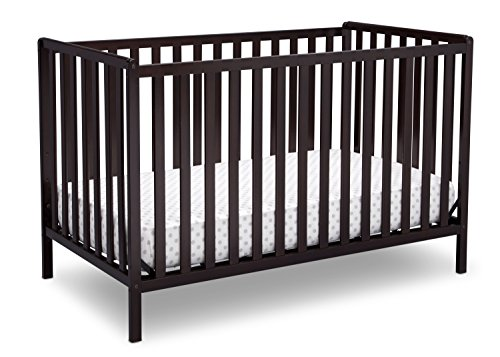 Delta Children Heartland 4-in-1 Convertible Baby Crib, Dark Chocolate