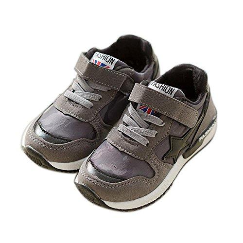 ALUK- Versión coreana de los zapatos de los muchachos Zapatos ocasionales Zapatos de los estudiantes de los niños Zapatos de los deportes ( Color : Gray , Tamaño : 30 ) Gray