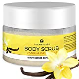 Salt & Oil Based Body Scrub Exfoliator Vanilla Patchouli: Get a Soft Skin With a Divine Scent! Organic & Natural Deep Cleanse, Use Before Self Tanning, Treat Acne, Wrinkles, Ingrown Hair, Blackheads review
