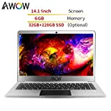 Ultrabook 14.1 Inch Laptop Business Notebook Internet Notebook 6GB RAM/32GB ROM Windows 10 - AWOW HeavenBook with Intel APOLLO LAKE N3450 Quad Core CPU