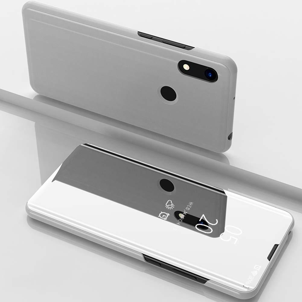 ZCXG Compatible avec Coque Huawei Honor 8a Housse Support Vertical Miroir Placage Flip Case 360 Degr/és Full Cover Fermeture Magn/étique Scratch Resistant Antid/érapant Or Local