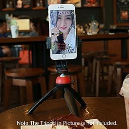 Ulanzi Tripod Mount /Vertical Bracket Smartphone Holder/Phone Clip Clipper Tripod Adapter for iPhone Samsung Smart Phones 2-1/4 - 3-5/8\
