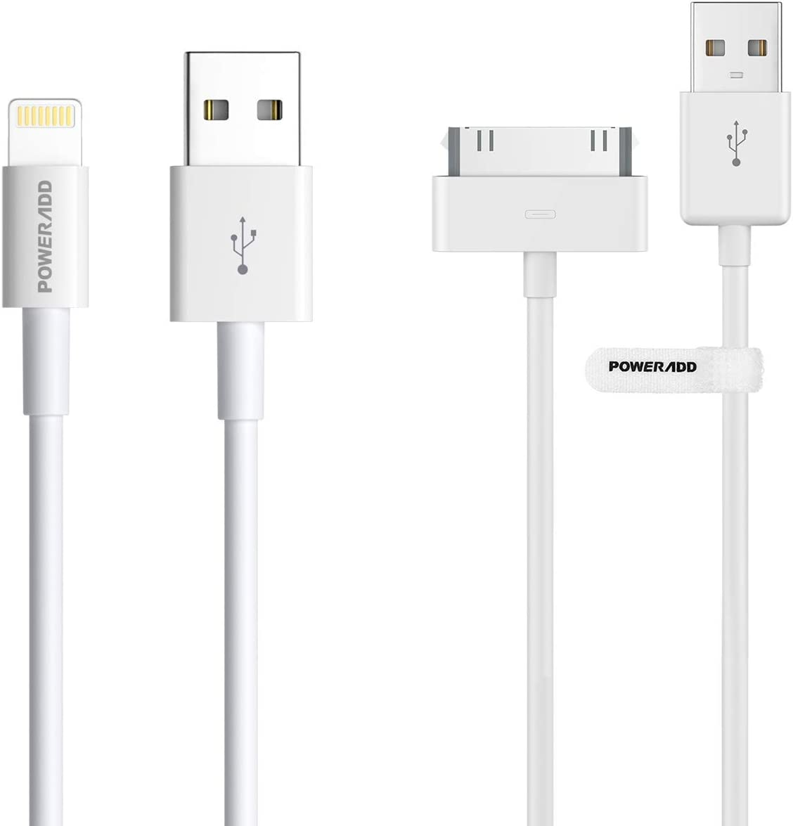 POWERADD Apple Certified iPhone 4 30 pins Cable and Lightning Cable