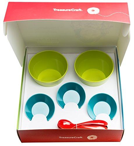 Zak Design Tiny Chef 8-Piece Kids Ice Cream Party & Activity Set, Oasis Design