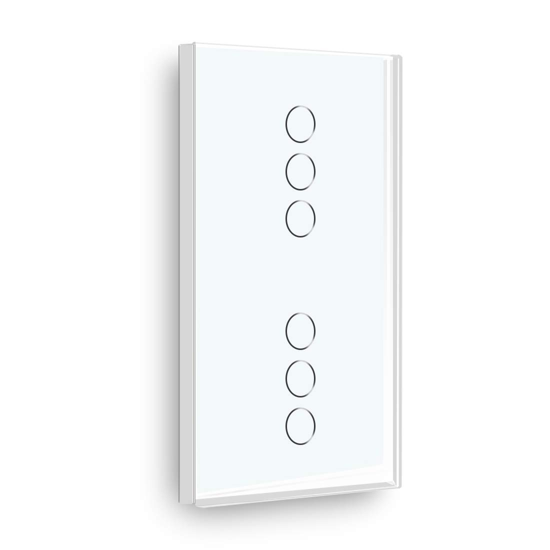 BSEED Interruptor Tactil 2 Gang 1 Way and 2 Gang 2 Way Panel de Vidrio 157 86 Interruptor de La Luz de La pared BLanco