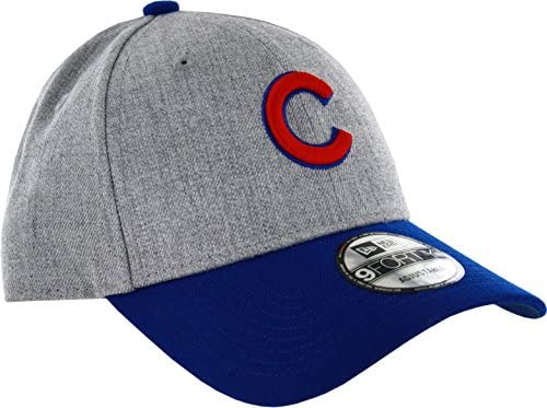 46c204b7ad22ac Amazon.com : New Era Chicago Cubs 9Forty MLB The League Heather 3