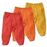 Babysoy Eco Essential 3-Piece Footie Pants Set (6-12 Months, Tomato)
