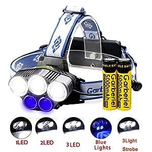 5 LED Headlight 2000 Lumen T6 Waterproof 6 Modes Headlights Zoomable Head Light for Sports Camping Running Hiking Reading Biking