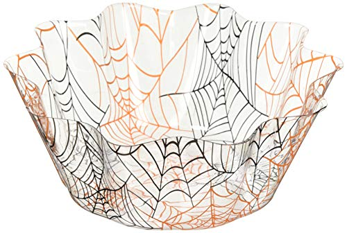 Creative Converting Spider Webs Fluted Bowl Party Supplies, Multicolor