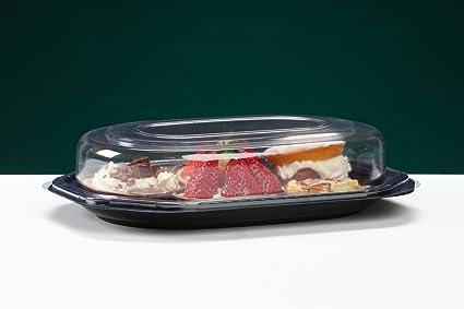 5 bandejas profundas octogonales, para alimentos y sándwiches para bufé, catering y fiestas,