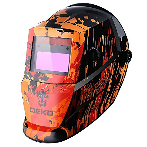 Solar Auto Darkening MIG MMA Electric Welding Mask/Helmet/Welding Lens for Welding Machine(Red)
