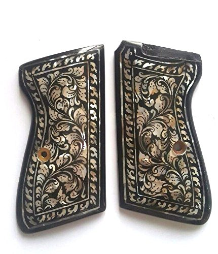 DOXICON&NOMIX Mother of Pearl Inlays Walther PPK, PPK/S Handcraft Handmade Grips Pistol