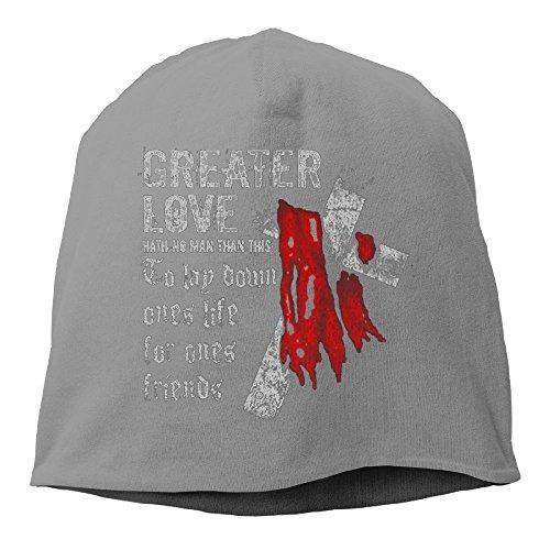 Fgjnmeiro Unisex LSA Apparel - Greater Love Adventure Unisex Stretch Beanie Skull Cap Knit Hat For Men Women Black Winter - Apparel Zeiss