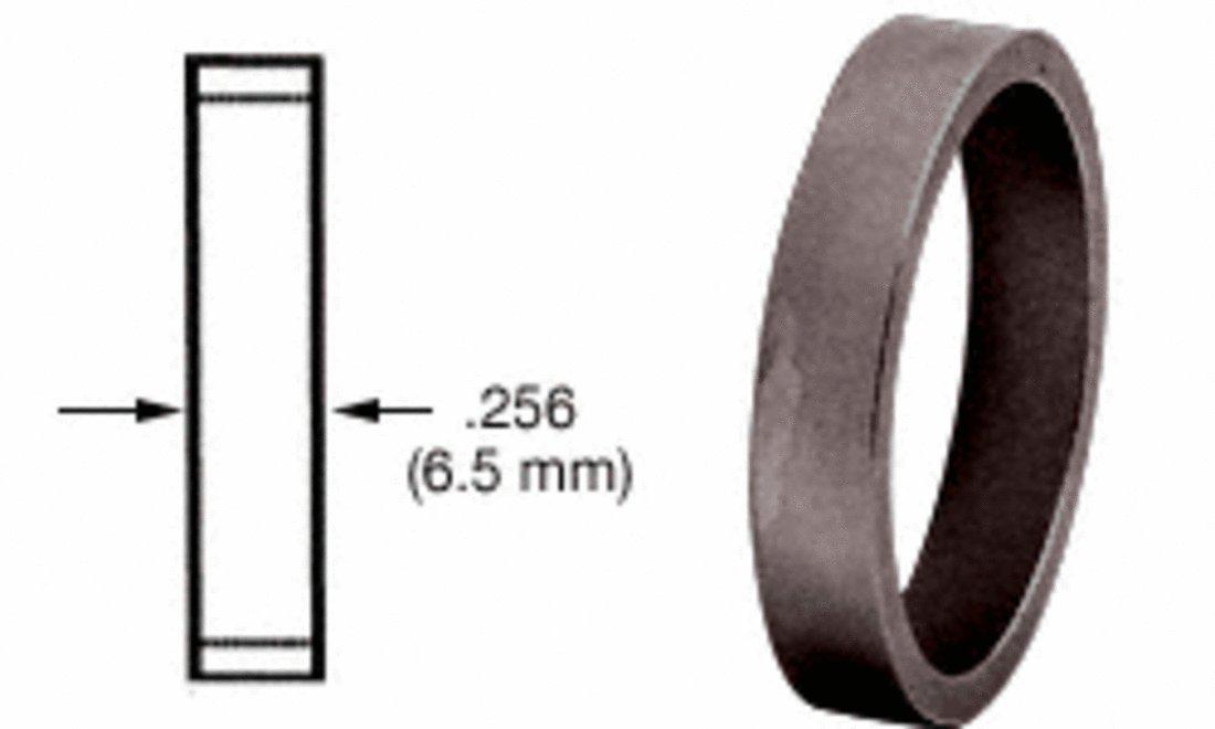CRL Dark Bronze .256'' Straight Cylinder Ring DRA256DU