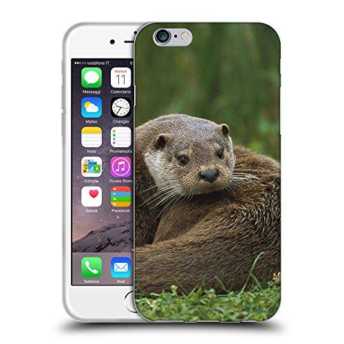 """Just Phone Cases Coque de Protection TPU Silicone Case pour // V00004167 bêtes loutre se trouve sur une herbe // Apple iPhone 6 4.7"""""""