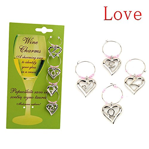 Wildlead 6 Pcs//Set Fashion Wine Cup Ring For Christmas Party Wedding Wines Glass Charms Markers Goblets Tags Table Decoration