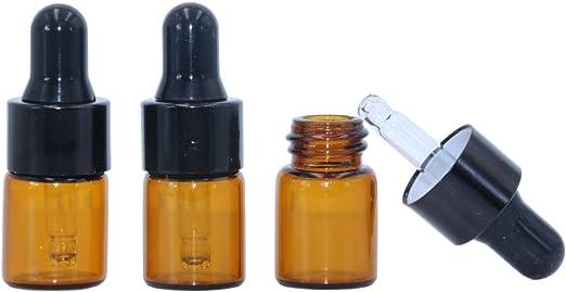50pcs  2ml Brown Glass Bottles 16*25mm Vials /& Plastic Lid Small Bottle