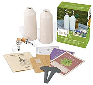Esschert Design USA 3180 Secrets du Potager Aromatic Oils and Vinegars Kit