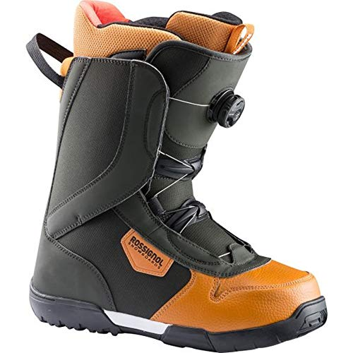 (Rossignol Crank BOA H3 Snowboard Boots 2019 Green/Brown 10)