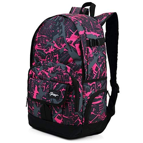 (Ricky-H Cool Graffiti Pattern Fashion Backpack for School Girls&Women Travel, Sports, Fits Laptop up to 15.6 Inch-Hot)