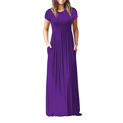 Purple Maxi Maternity Dress