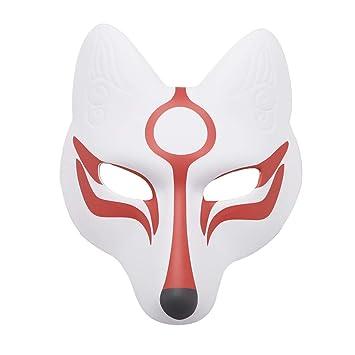 TiaoBug Máscara de Zorro Japonesa de Caricatura Completa con Banda ...