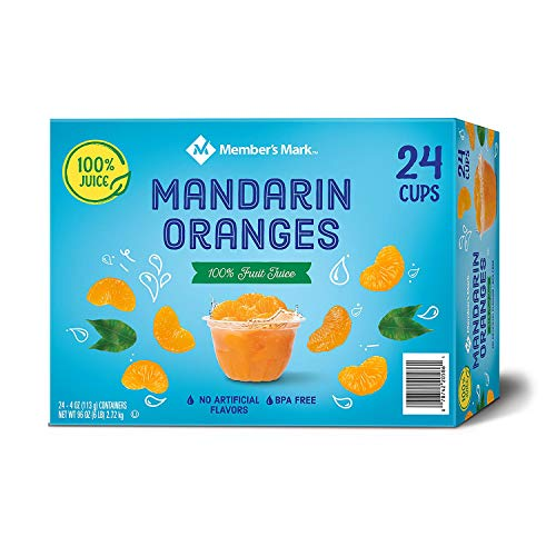 (Mandarin Oranges in Fruit Juice, 4 Ounce Cups (24 Count))